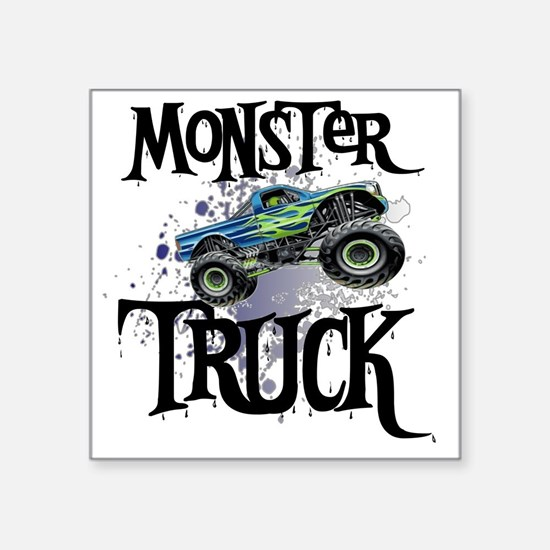 """Monster_Truck_cp Square Sticker 3"""" x 3"""""""