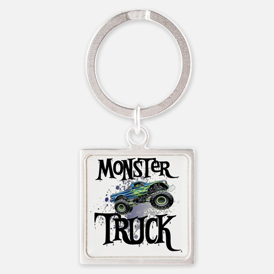 Monster_Truck_cp Square Keychain