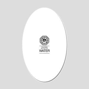 Dharma Water 20x12 Oval Wall Decal