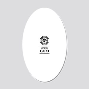 Dharma Card 20x12 Oval Wall Decal