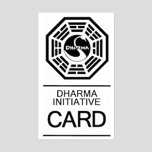Dharma Card Sticker (Rectangle)
