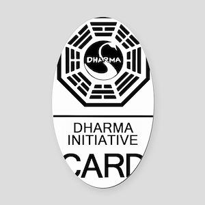 Dharma Card Oval Car Magnet
