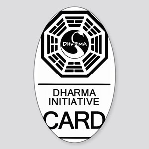 Dharma Card Sticker (Oval)