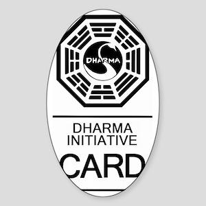 Dharma Card Sticker (Oval)