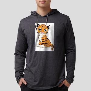 baby tiger cub Mens Hooded Shirt