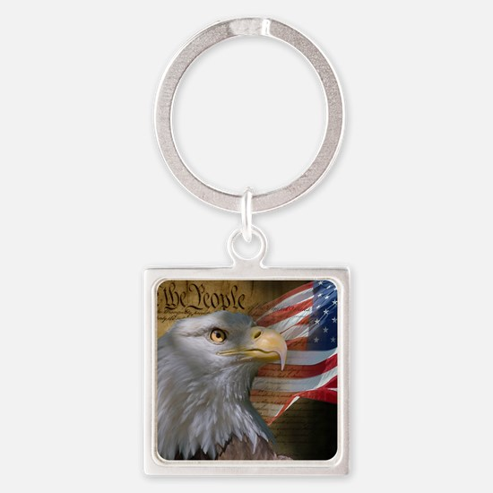 We_the_People_11.5x9 Square Keychain