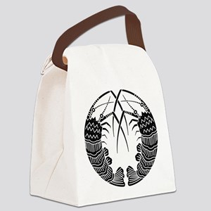 Facing spiny lobsters Canvas Lunch Bag