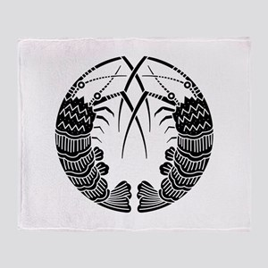 Facing spiny lobsters Throw Blanket
