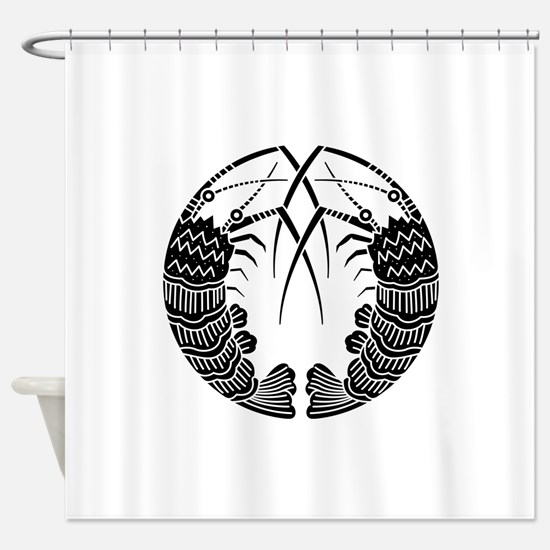 Facing spiny lobsters Shower Curtain