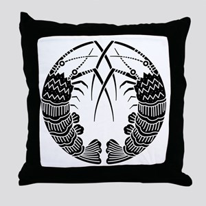 Facing spiny lobsters Throw Pillow