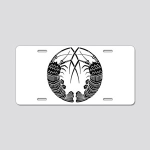 Facing spiny lobsters Aluminum License Plate