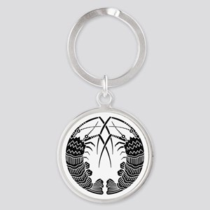 Facing spiny lobsters Round Keychain