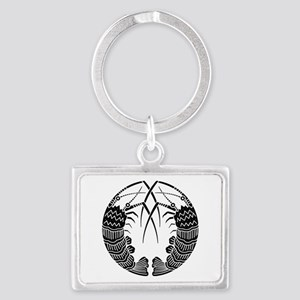 Facing spiny lobsters Landscape Keychain
