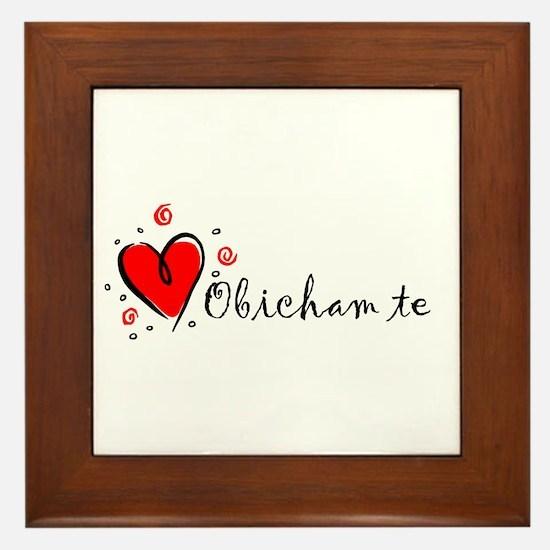 """""""I Love You"""" [Bulgarian] Framed Tile"""