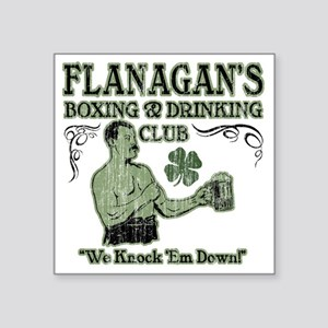 "flanagans club Square Sticker 3"" x 3"""