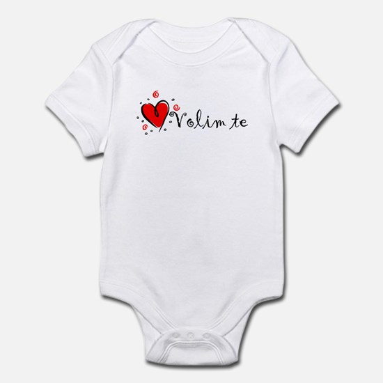 """I Love You"" [Bosnian] Infant Bodysuit"
