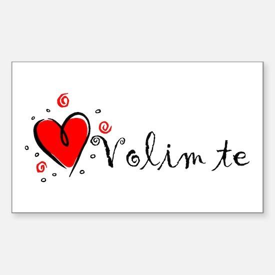"""I Love You"" [Bosnian] Rectangle Decal"