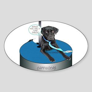 Chipp-N-Dog Oval Sticker