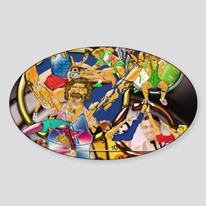 Competitive Sports Art and Photogra Sticker (Oval)