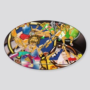 5-Competitive Sports Art and Photog Sticker (Oval)