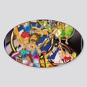 10-Competitive Sports Art and Photo Sticker (Oval)