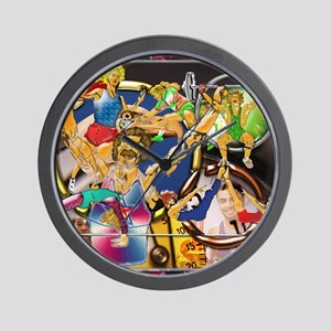 10-Competitive Sports Art and Photograp Wall Clock