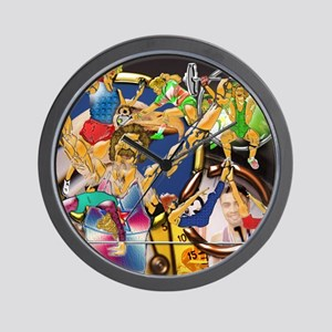 4-Competitive Sports Art and Photograph Wall Clock