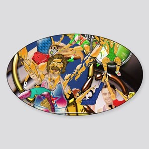4-Competitive Sports Art and Photog Sticker (Oval)