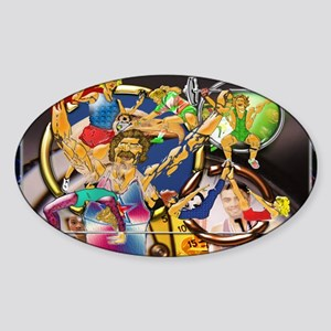 8-Competitive Sports Art and Photog Sticker (Oval)