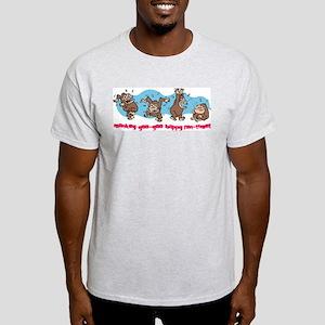 Monkey goo-goo happy fun-time Ash Grey T-Shirt
