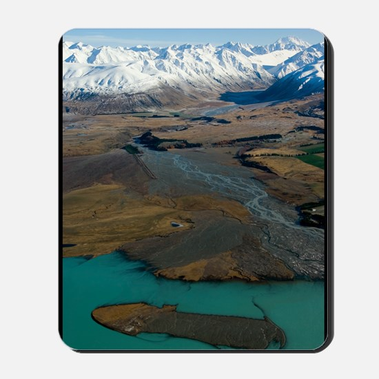 4-Lake-Tekapo,-mnts--braided-5289-mini p Mousepad