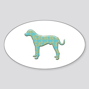Paisley Catahoula Oval Sticker