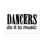 Dancers do it to Music Mini Poster Print