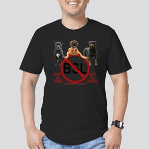 stop_bsl_trans2 Men's Fitted T-Shirt (dark)