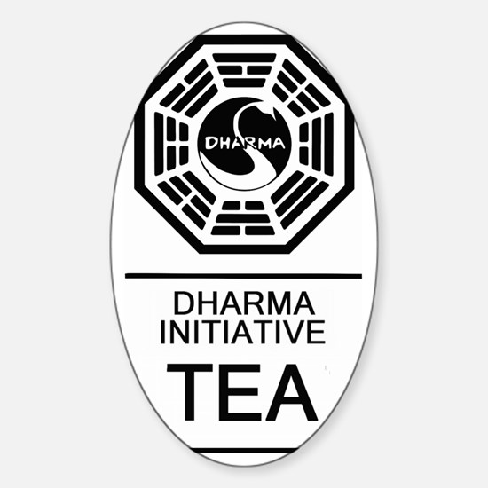 Dharma Tea Sticker (Oval)