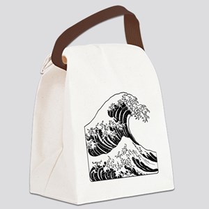 great_wave_black_10x10 Canvas Lunch Bag