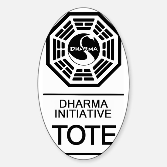 Dharma Tote Sticker (Oval)