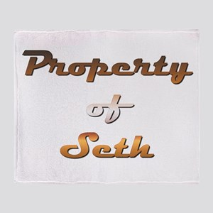 Property Of Seth Male Throw Blanket