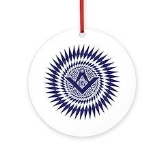 Masonic Crystal Starburst Ornament (Round)