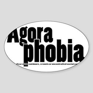 Agoraphobia Sticker (Oval)