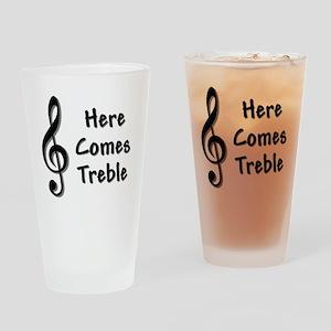 Treble-Black Drinking Glass