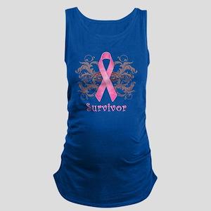 PinkCancerSurvivorDark Maternity Tank Top