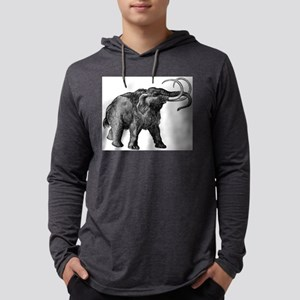 Woolly mammoth Mens Hooded Shirt