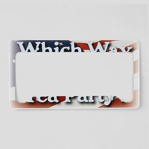 wwtteaparty_v2 License Plate Holder