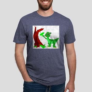 wmf_dinosaur042yy Mens Tri-blend T-Shirt
