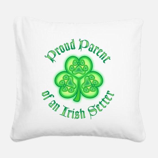 Irish Setter Parent Square Canvas Pillow
