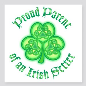 "Irish Setter Parent Square Car Magnet 3"" x 3"""