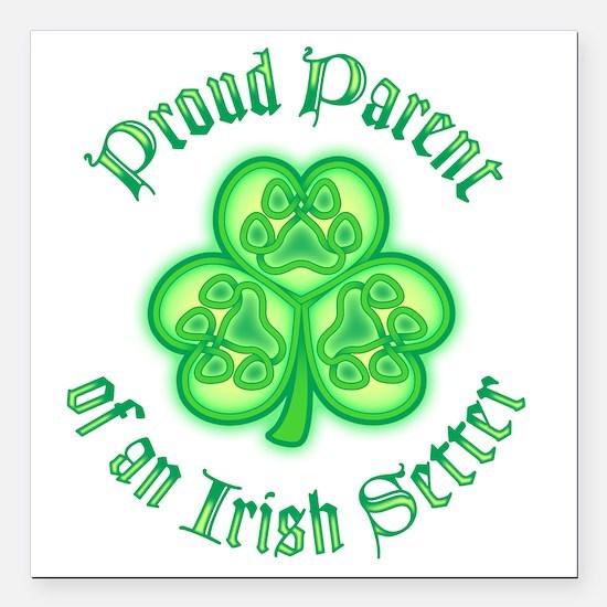 "Irish Setter Parent Square Car Magnet 3"" x 3"""