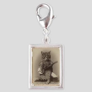 Cat_tee Silver Portrait Charm