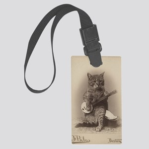 Cat_tee Large Luggage Tag
